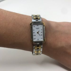 Hermes Accessories - Hermès Croisiere Two-Tone Quartz Watch in Case